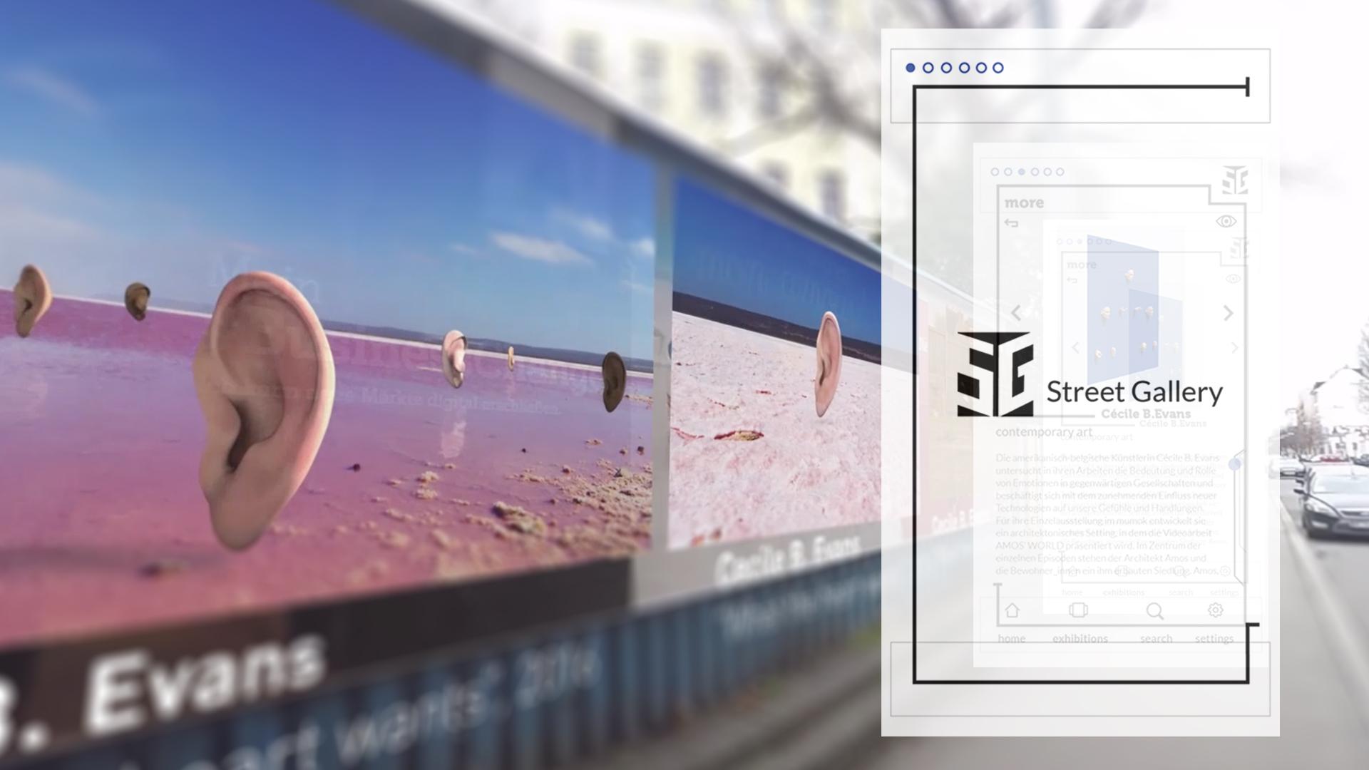 Street Gallery – Benutzeroberfläche aus der Sicht des Benutzers